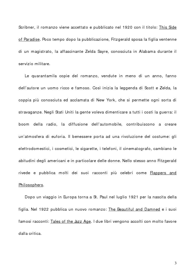 Anteprima della tesi: L'illusione infranta di Fitzgerald in ''The Great Gatsby'', Pagina 3
