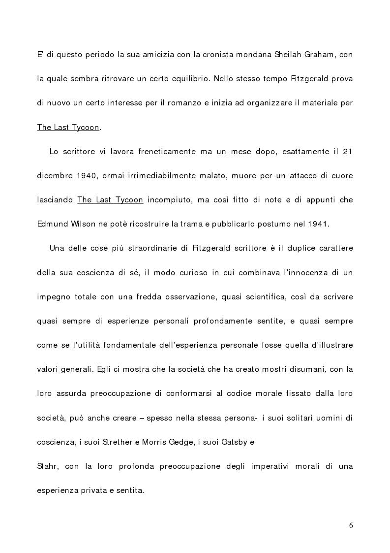 Anteprima della tesi: L'illusione infranta di Fitzgerald in ''The Great Gatsby'', Pagina 6