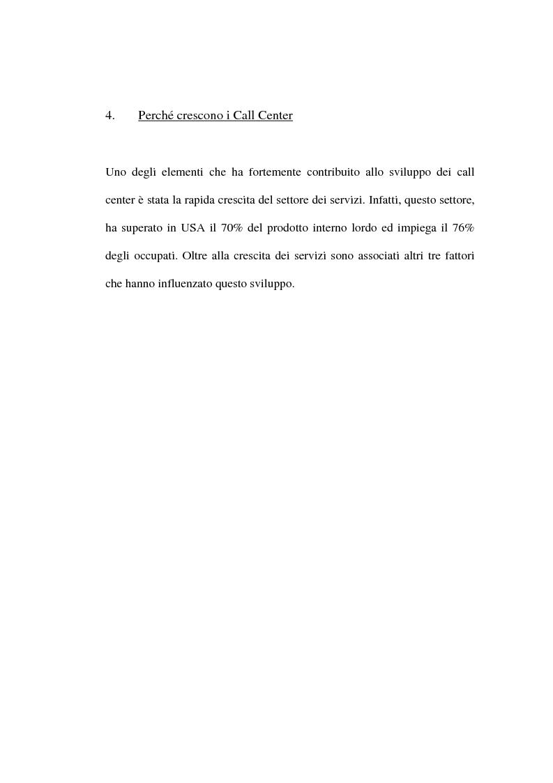 Anteprima della tesi: I call center: organizzazione e gestione del personale, Pagina 10