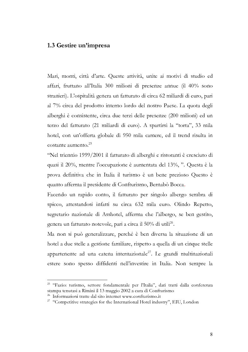 Anteprima della tesi: Il franchising nel turismo ed in particolare nel settore alberghiero: strategie aziendali e politiche di incentivazione, Pagina 12