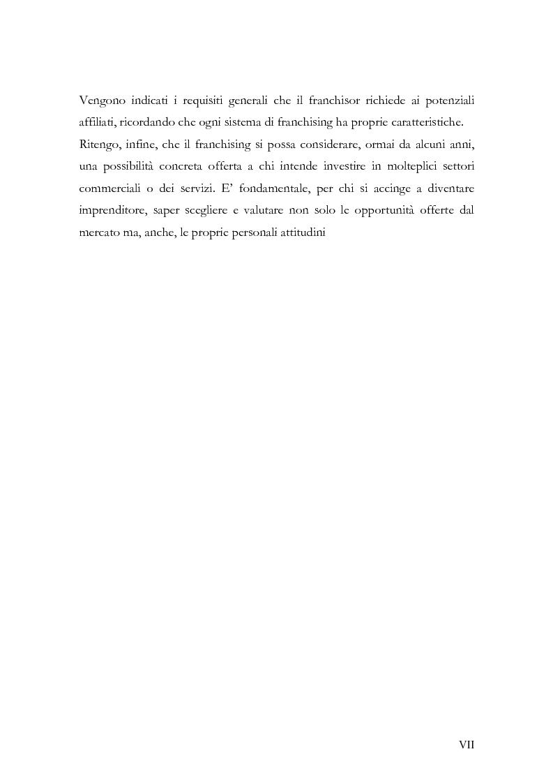 Anteprima della tesi: Il franchising nel turismo ed in particolare nel settore alberghiero: strategie aziendali e politiche di incentivazione, Pagina 4