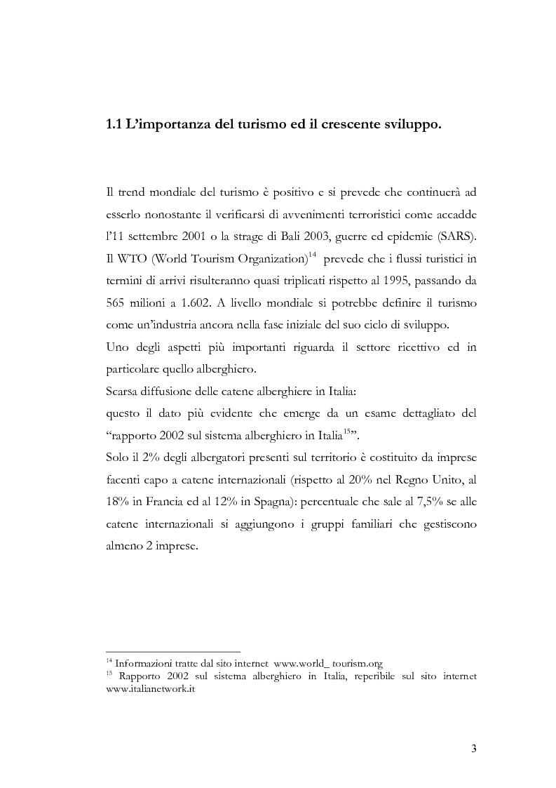 Anteprima della tesi: Il franchising nel turismo ed in particolare nel settore alberghiero: strategie aziendali e politiche di incentivazione, Pagina 7