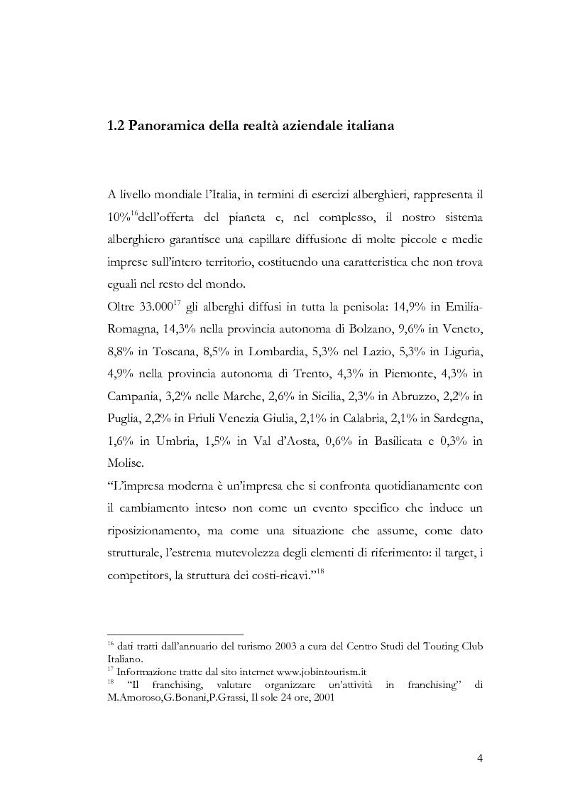 Anteprima della tesi: Il franchising nel turismo ed in particolare nel settore alberghiero: strategie aziendali e politiche di incentivazione, Pagina 8