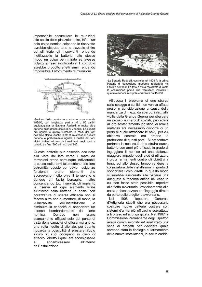 Anteprima della tesi: La Batteria Amalfi e le difese costiere di Venezia, Pagina 4