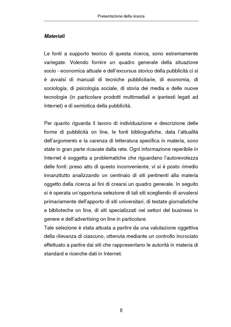 Anteprima della tesi: Advertising on line, Pagina 1