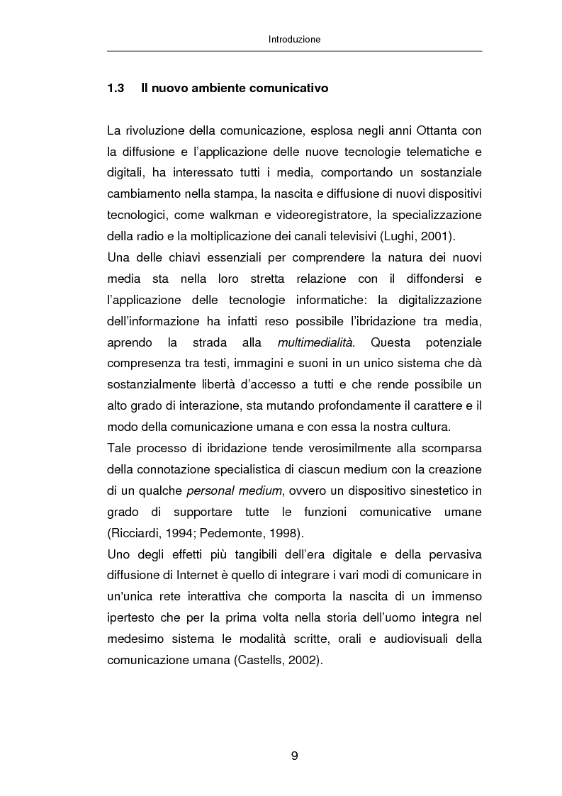 Anteprima della tesi: Advertising on line, Pagina 15