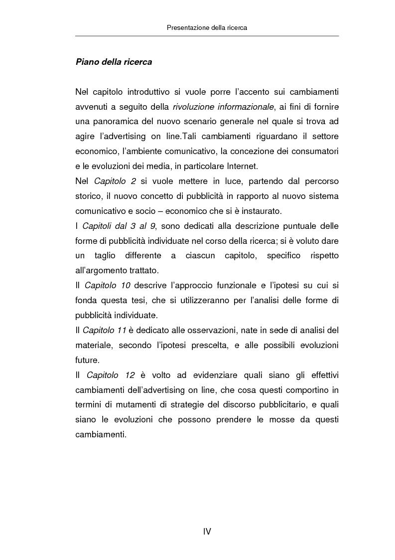 Anteprima della tesi: Advertising on line, Pagina 3