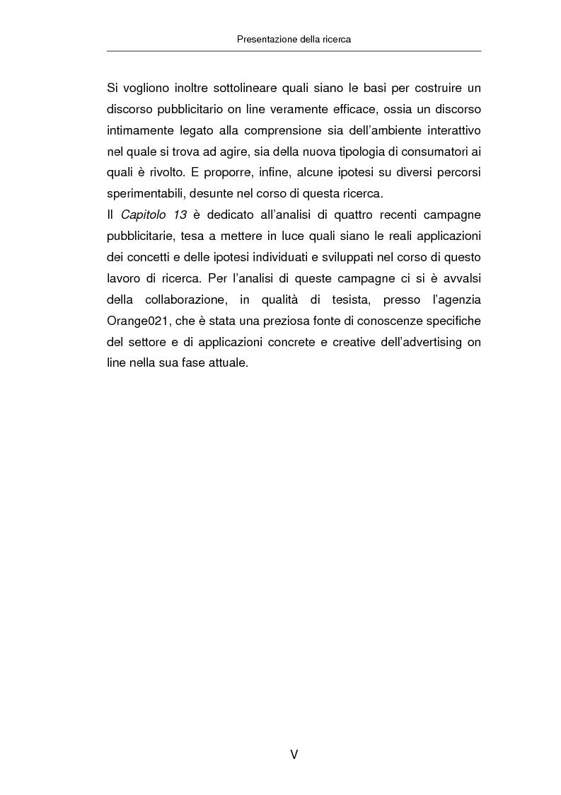 Anteprima della tesi: Advertising on line, Pagina 4