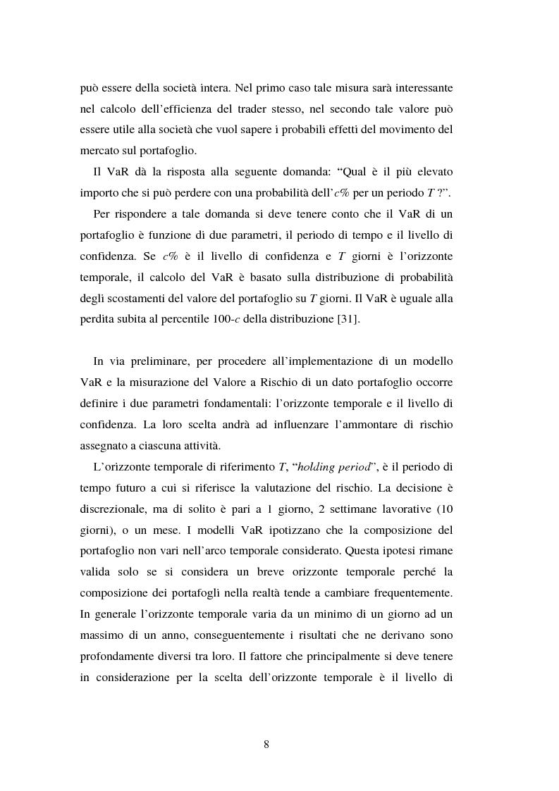 Anteprima della tesi: Metodi di simulazione storica per il calcolo del KiloVaR, Pagina 13