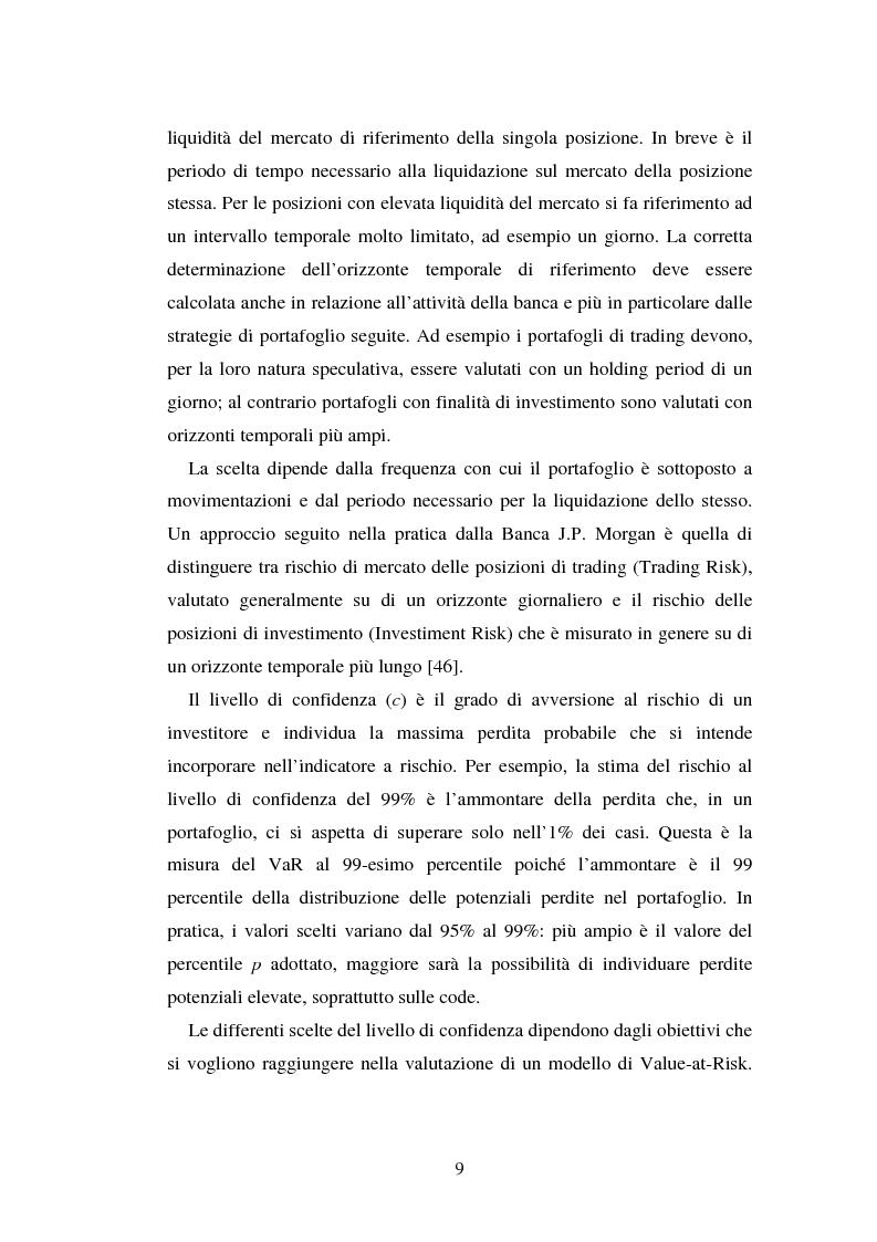 Anteprima della tesi: Metodi di simulazione storica per il calcolo del KiloVaR, Pagina 14