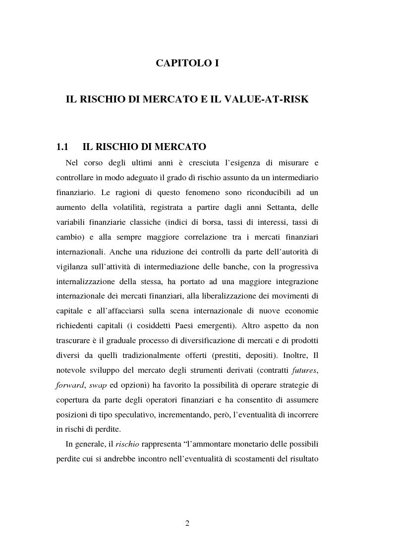 Anteprima della tesi: Metodi di simulazione storica per il calcolo del KiloVaR, Pagina 7
