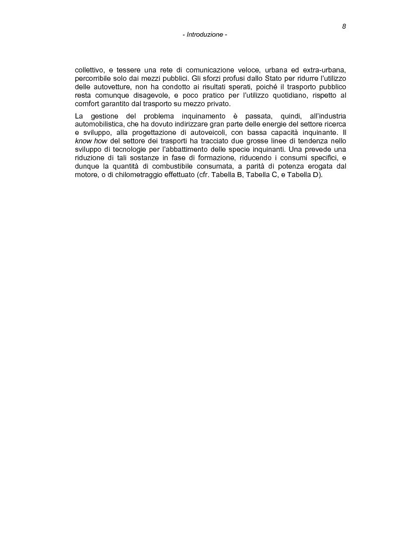 Anteprima della tesi: Il processo di combustione nei motori alternativi: sviluppo di procedure per lo studio delle emissioni di idrocarburi incombusti, Pagina 5
