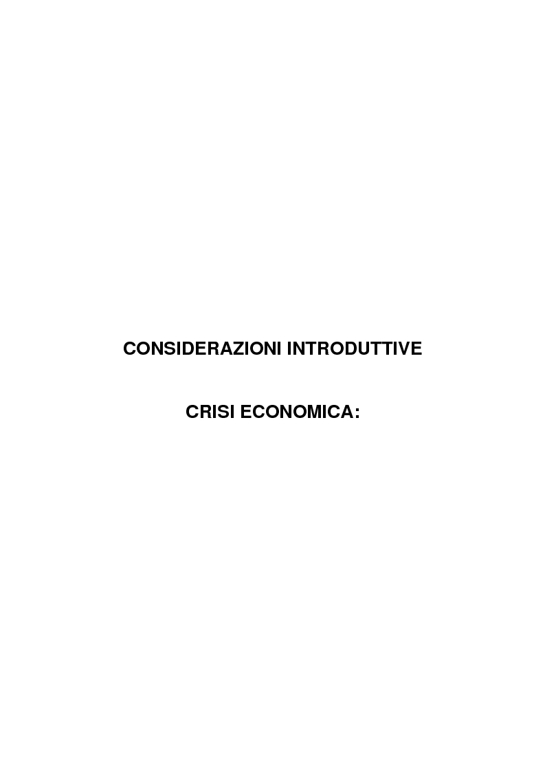 Anteprima della tesi: Crisi economica e pauperizzazione. Le politiche pubbliche nel quadro nazionale ed europeo, Pagina 6