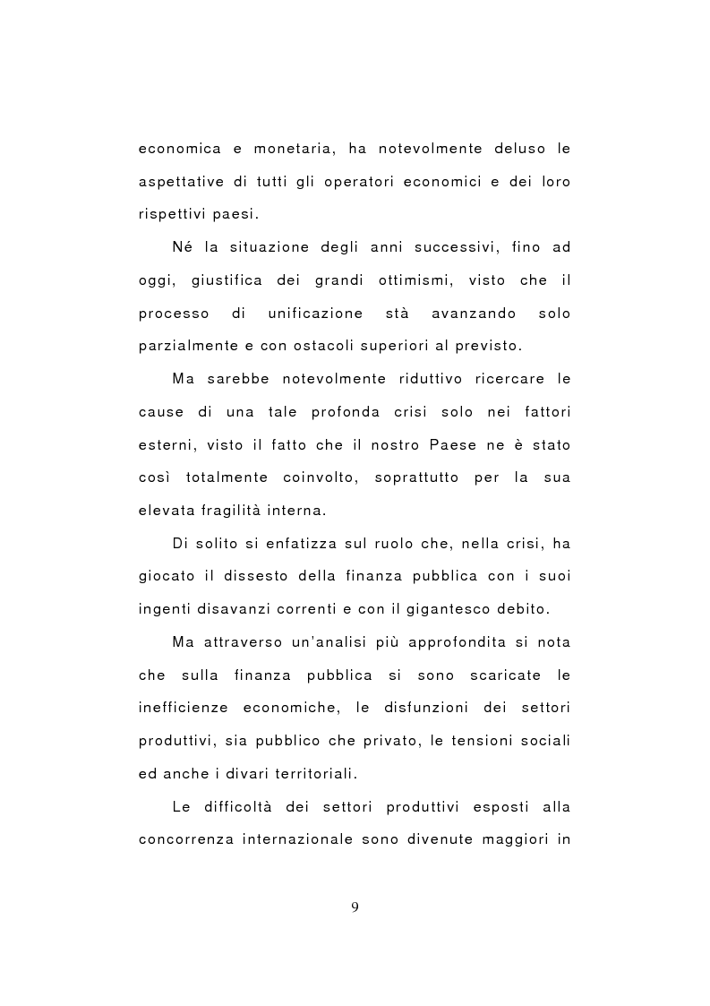Anteprima della tesi: Crisi economica e pauperizzazione. Le politiche pubbliche nel quadro nazionale ed europeo, Pagina 8