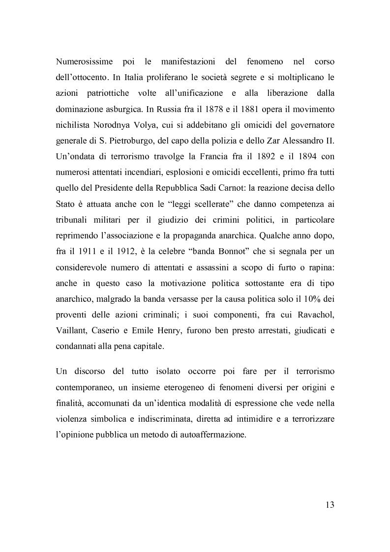 Anteprima della tesi: La disciplina del terrorismo nel diritto penale francese, Pagina 7