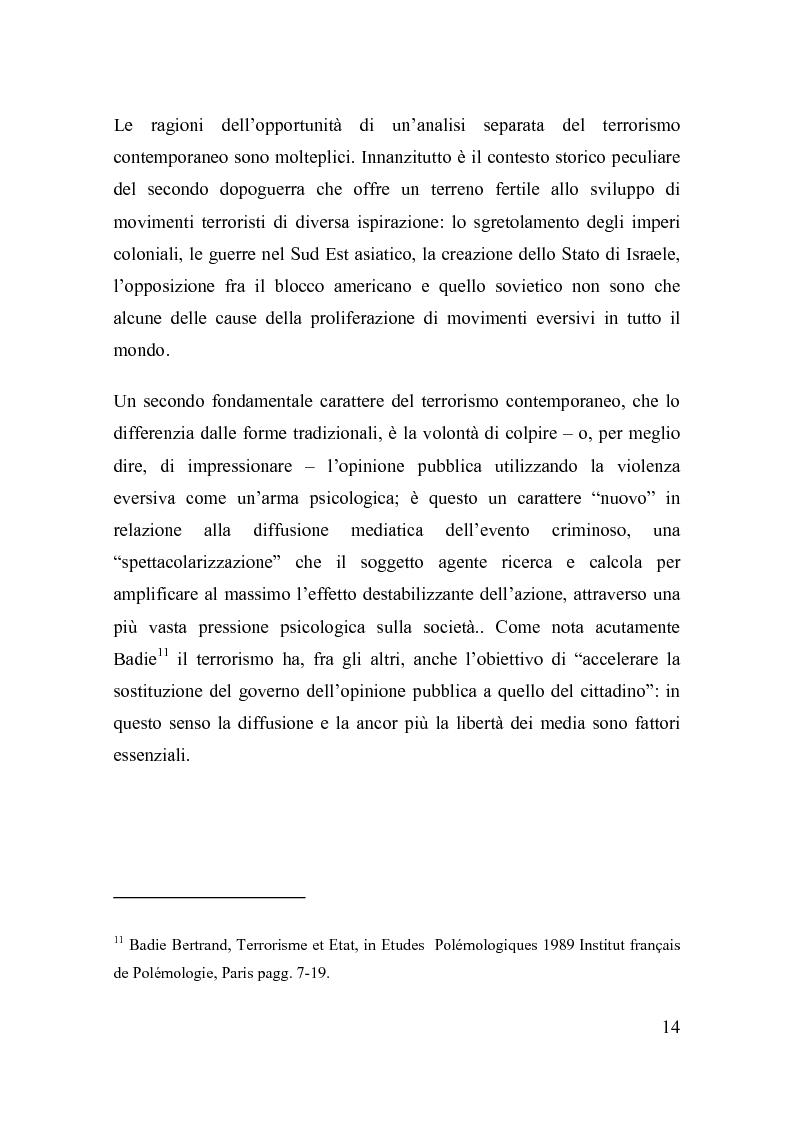 Anteprima della tesi: La disciplina del terrorismo nel diritto penale francese, Pagina 8