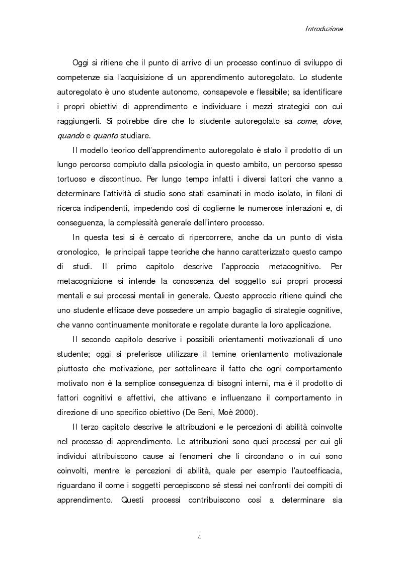 Anteprima della tesi: Apprendimento e motivazione allo studio negli studenti universitari, Pagina 2