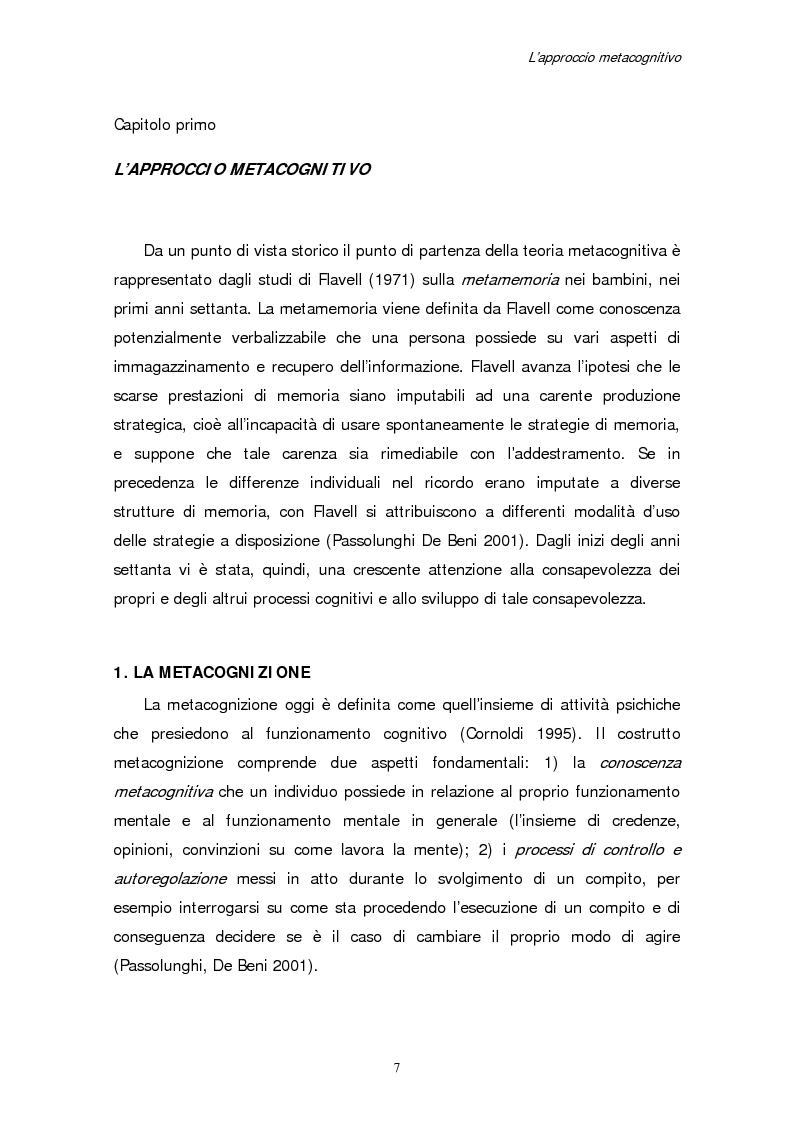 Anteprima della tesi: Apprendimento e motivazione allo studio negli studenti universitari, Pagina 5