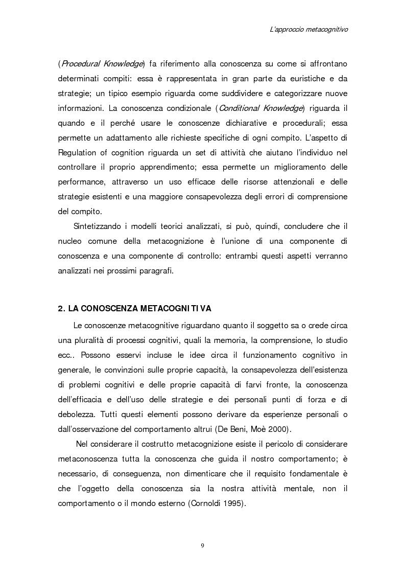 Anteprima della tesi: Apprendimento e motivazione allo studio negli studenti universitari, Pagina 7