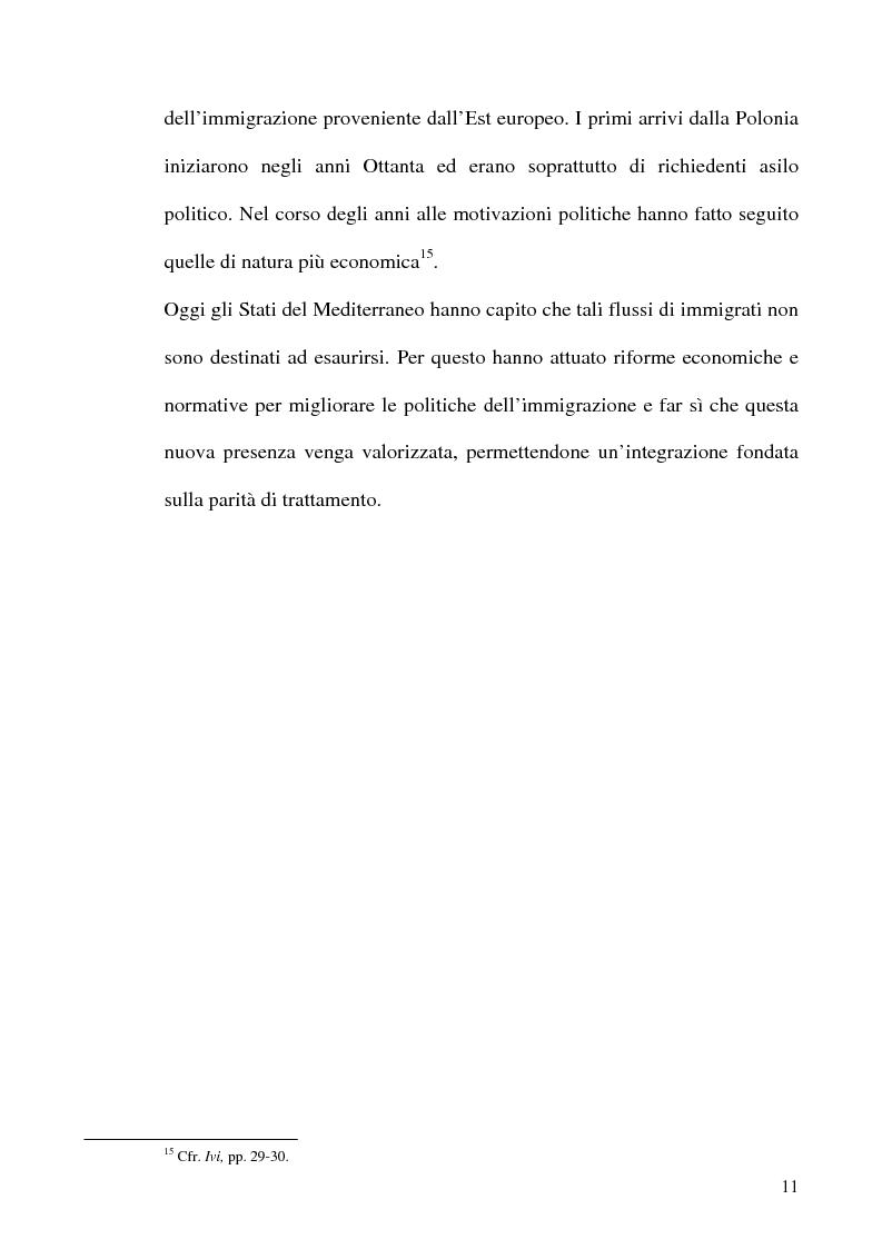 Anteprima della tesi: Immigrazione e formazione: i percorsi di inserimento professionale degli immigrati nell'area romana, Pagina 11