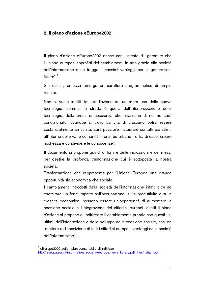 Anteprima della tesi: Mobile Internet e Pubblica Amministrazione, prospettive per l'eGovernment, Pagina 11