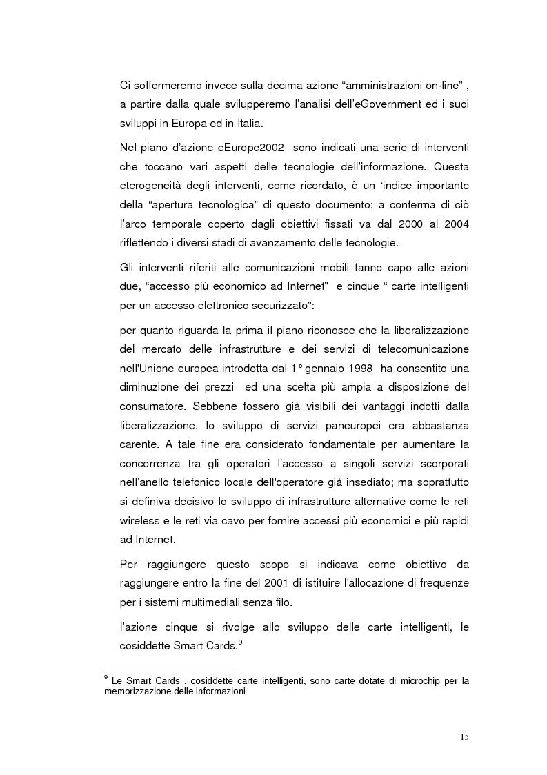 Anteprima della tesi: Mobile Internet e Pubblica Amministrazione, prospettive per l'eGovernment, Pagina 15