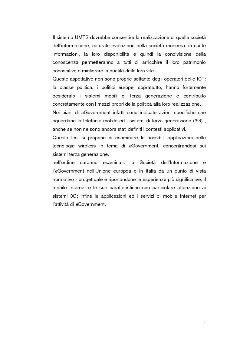 Anteprima della tesi: Mobile Internet e Pubblica Amministrazione, prospettive per l'eGovernment, Pagina 4