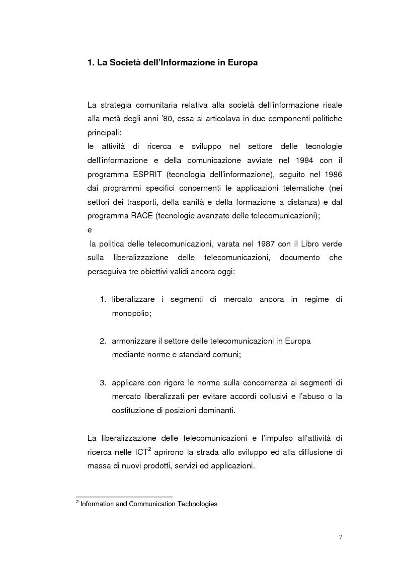 Anteprima della tesi: Mobile Internet e Pubblica Amministrazione, prospettive per l'eGovernment, Pagina 7