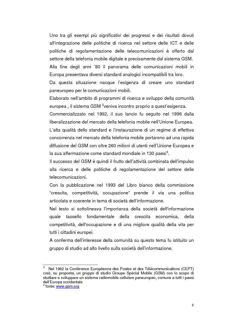 Anteprima della tesi: Mobile Internet e Pubblica Amministrazione, prospettive per l'eGovernment, Pagina 8
