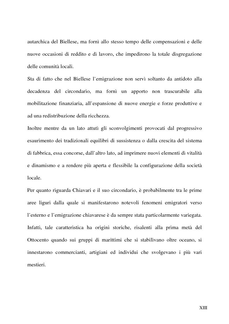 Anteprima della tesi: L'emigrazione italiana dal 1861 alla prima guerra mondiale. I casi del Biellese e del Chiavarese, Pagina 11