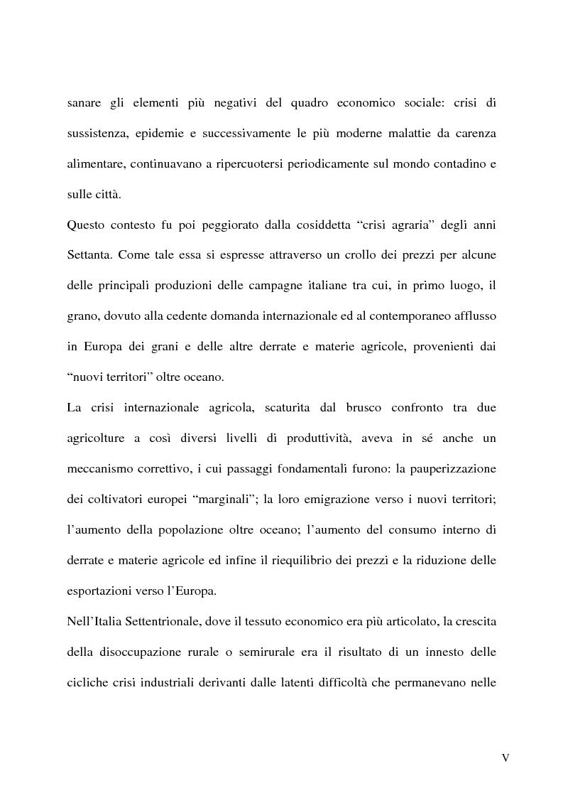 Anteprima della tesi: L'emigrazione italiana dal 1861 alla prima guerra mondiale. I casi del Biellese e del Chiavarese, Pagina 3