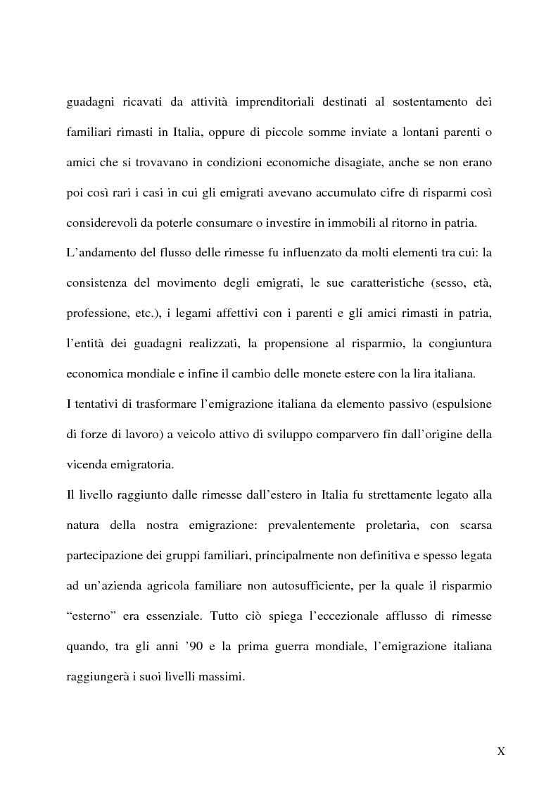 Anteprima della tesi: L'emigrazione italiana dal 1861 alla prima guerra mondiale. I casi del Biellese e del Chiavarese, Pagina 8
