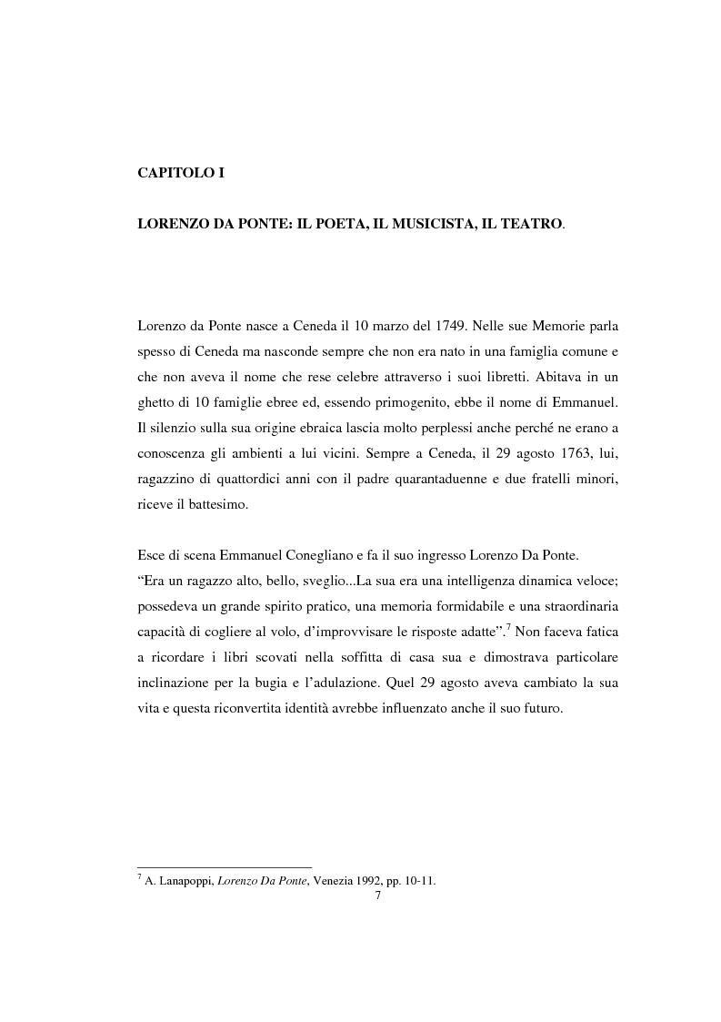 Anteprima della tesi: Lorenzo Da Ponte librettista: Don Giovanni tra opera e mito, Pagina 5