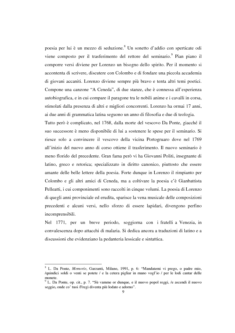 Anteprima della tesi: Lorenzo Da Ponte librettista: Don Giovanni tra opera e mito, Pagina 7