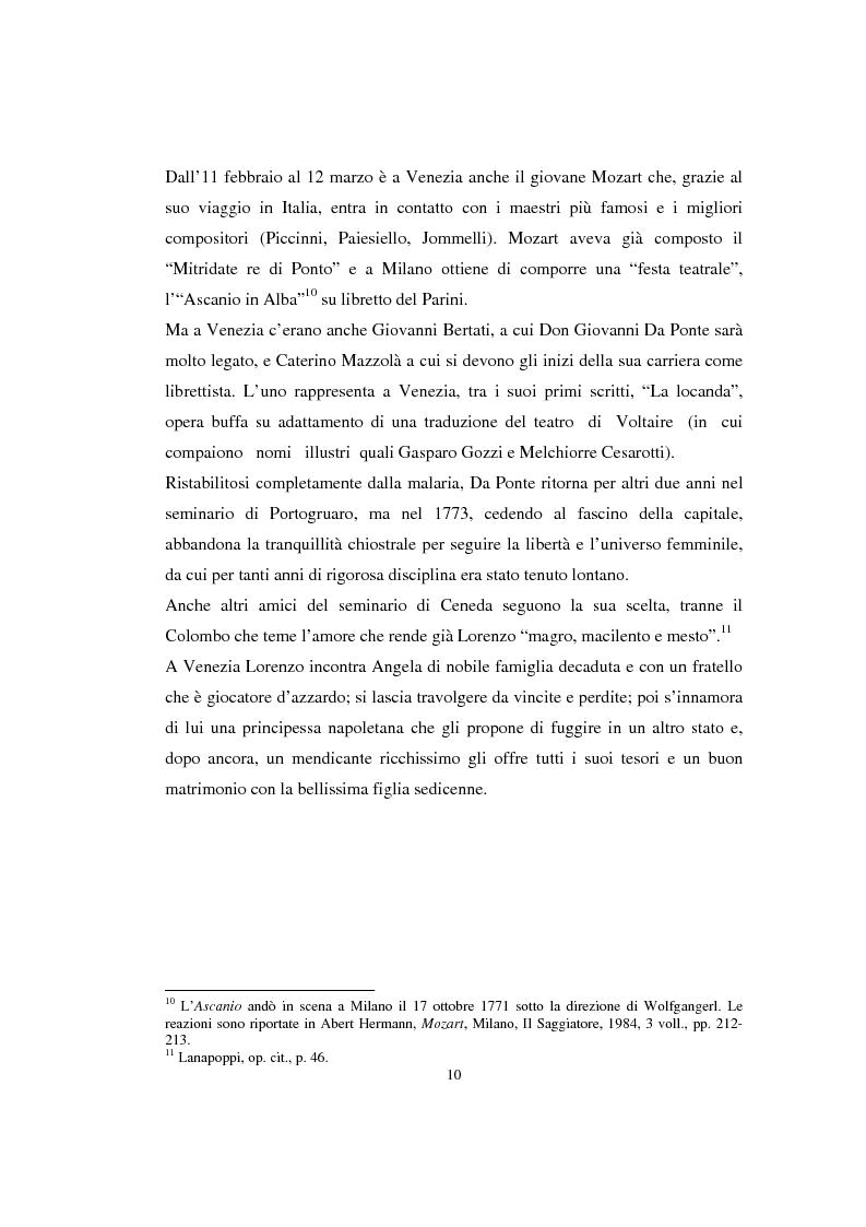 Anteprima della tesi: Lorenzo Da Ponte librettista: Don Giovanni tra opera e mito, Pagina 8