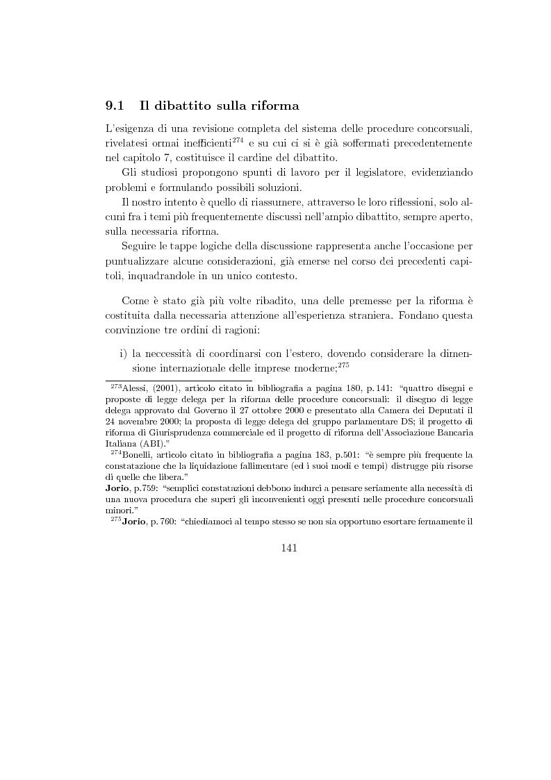 Anteprima della tesi: La composizione stragiudiziale dell'insolvenza e le prospettive di riforma, Pagina 1