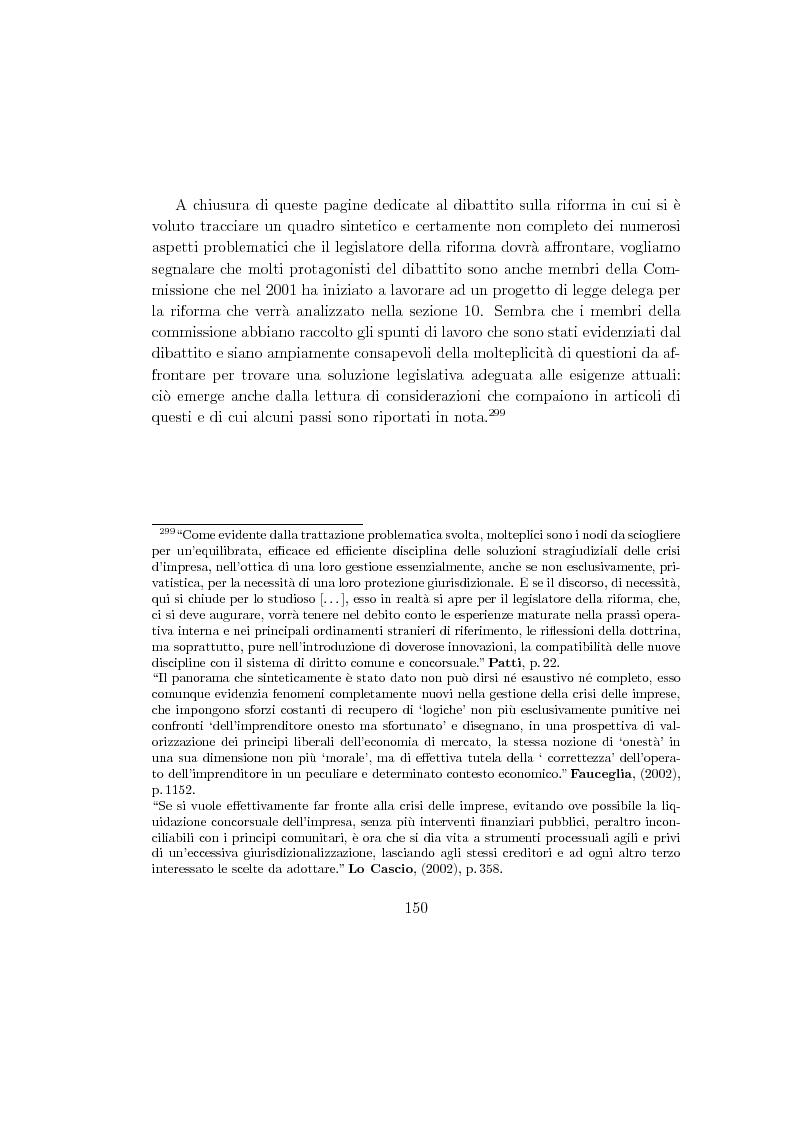 Anteprima della tesi: La composizione stragiudiziale dell'insolvenza e le prospettive di riforma, Pagina 10