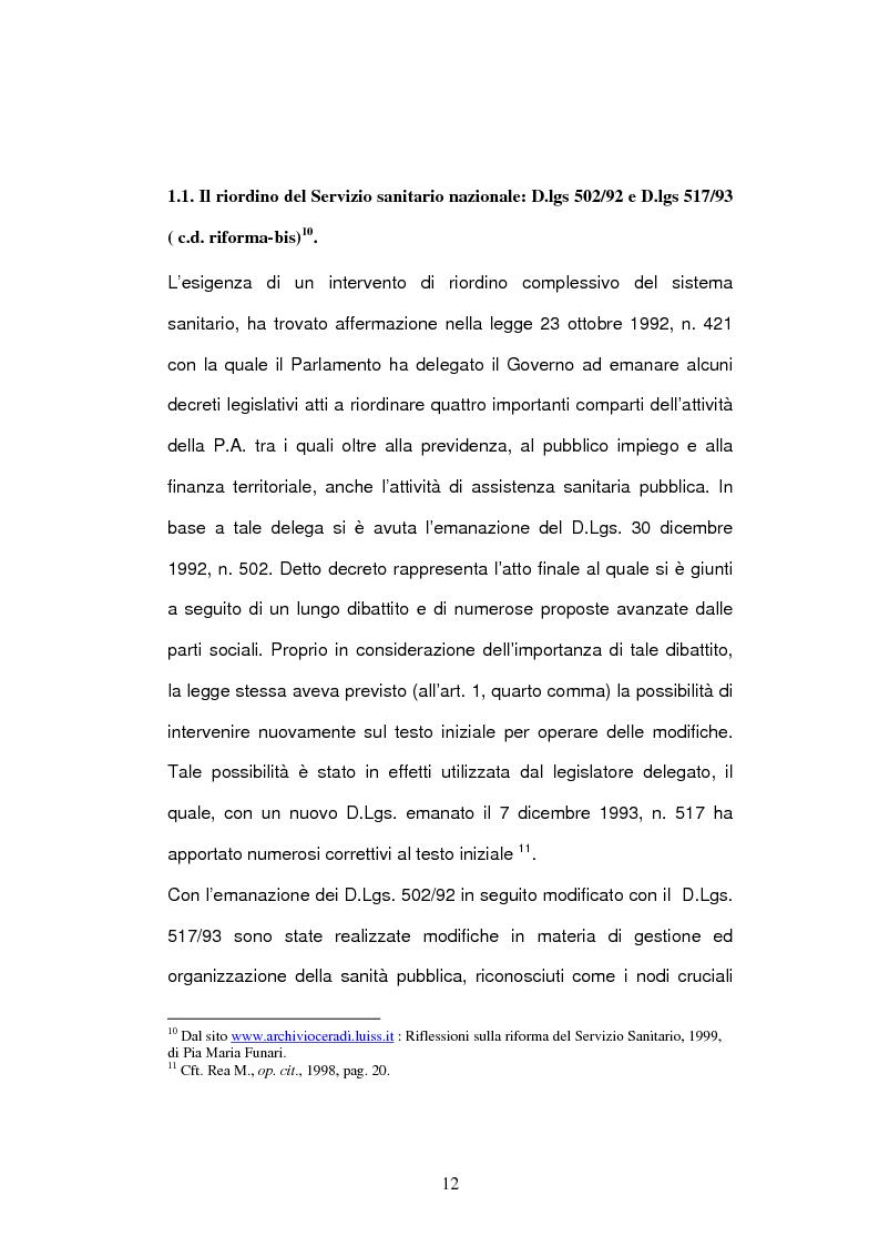 Anteprima della tesi: Il bilancio delle aziende sanitarie, Pagina 10