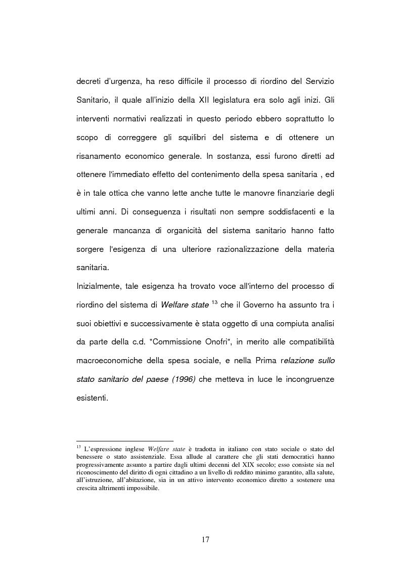 Anteprima della tesi: Il bilancio delle aziende sanitarie, Pagina 15