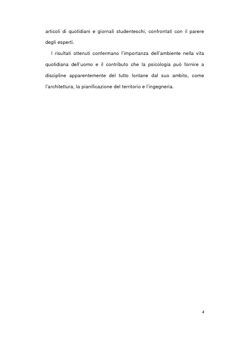 Anteprima della tesi: Psicologia ambientale e progetto Bicocca, Pagina 4