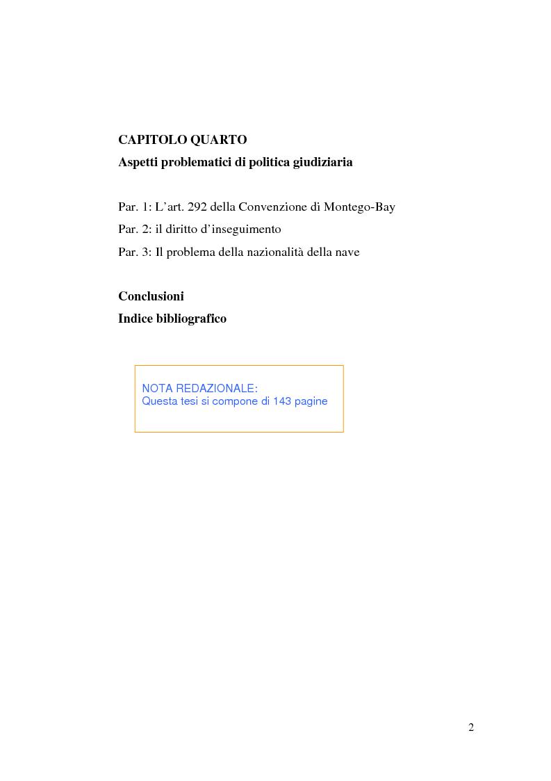 Indice della tesi: Il Tribunale Internazionale del Diritto del Mare: le prime sentenze, Pagina 2