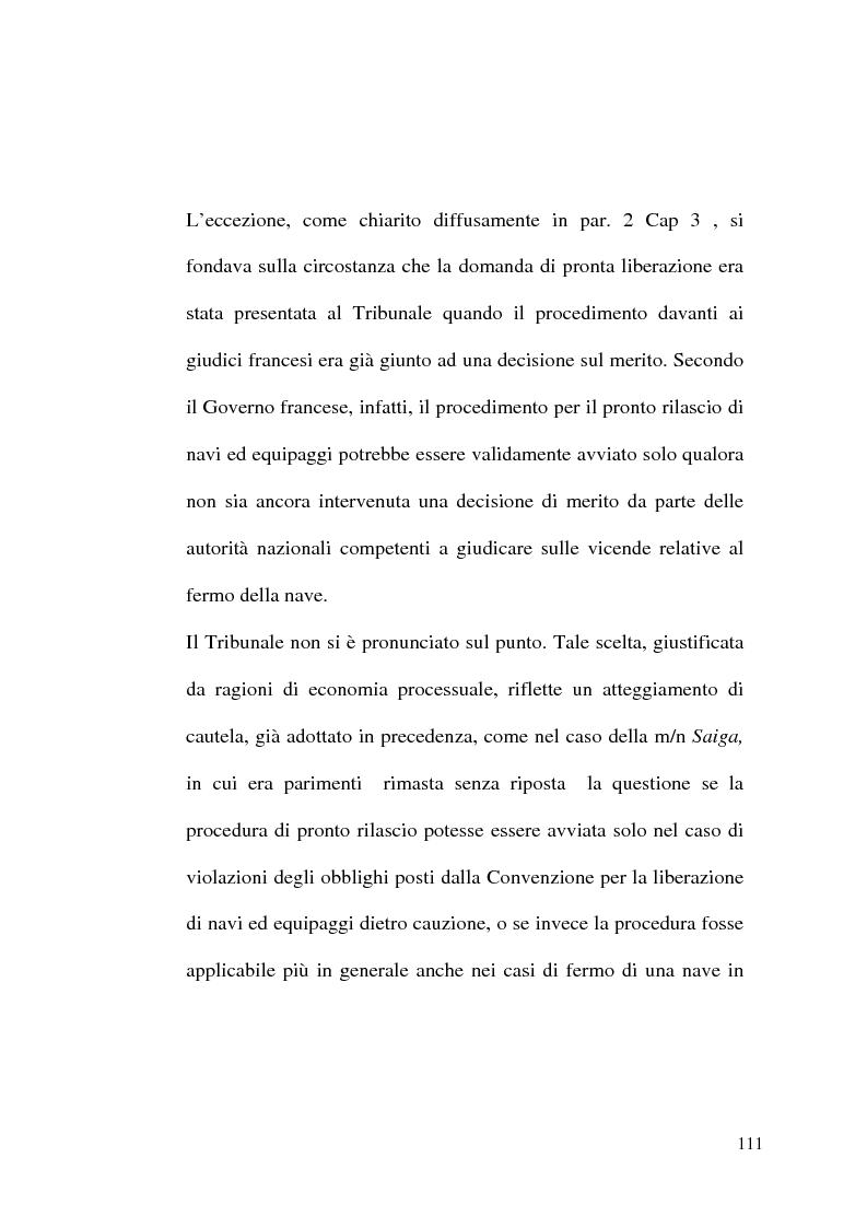 Anteprima della tesi: Il Tribunale Internazionale del Diritto del Mare: le prime sentenze, Pagina 11