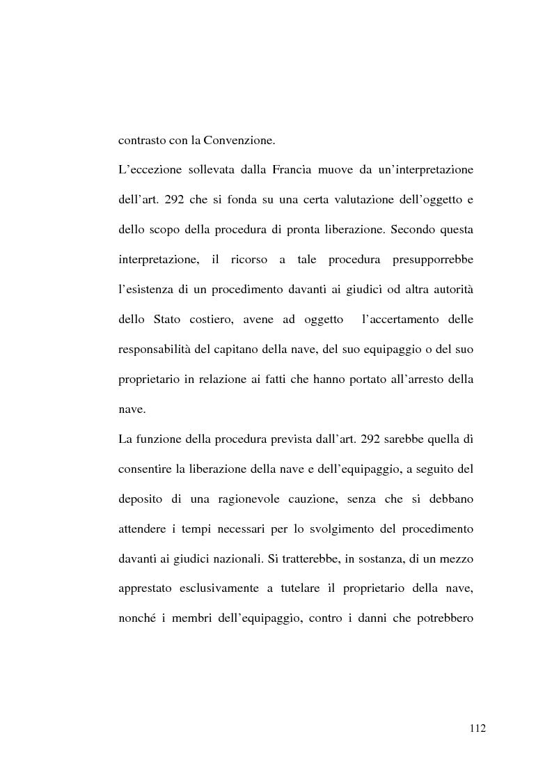 Anteprima della tesi: Il Tribunale Internazionale del Diritto del Mare: le prime sentenze, Pagina 12