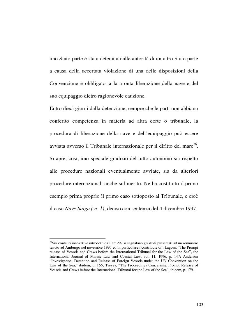 Anteprima della tesi: Il Tribunale Internazionale del Diritto del Mare: le prime sentenze, Pagina 3