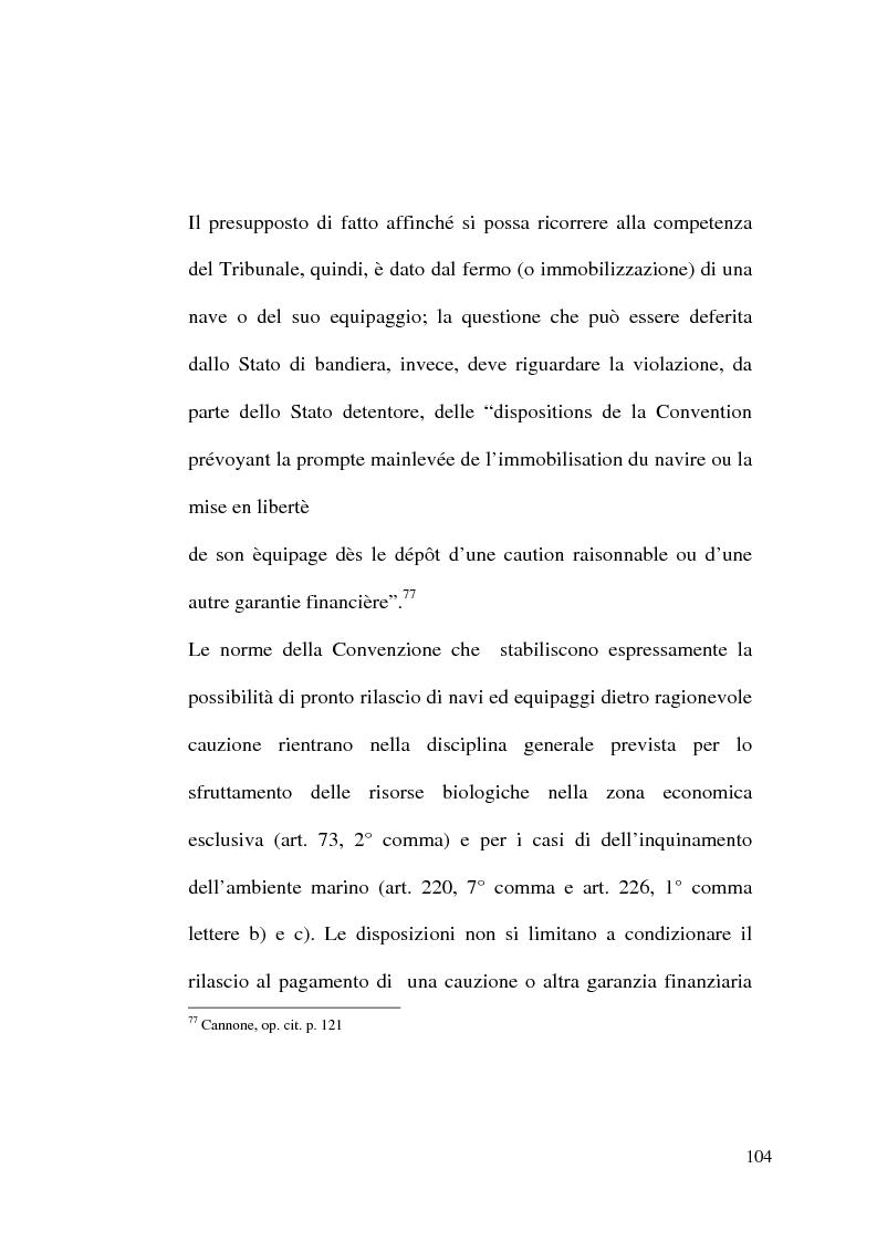 Anteprima della tesi: Il Tribunale Internazionale del Diritto del Mare: le prime sentenze, Pagina 4