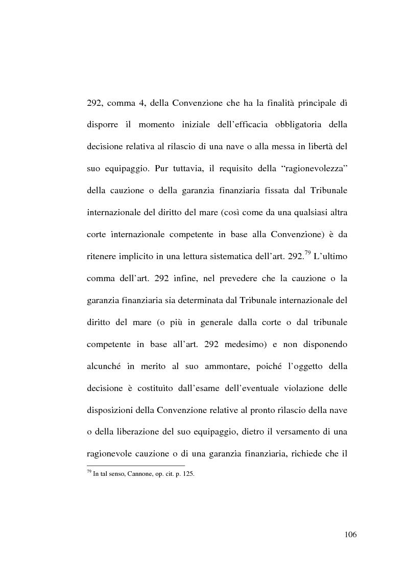 Anteprima della tesi: Il Tribunale Internazionale del Diritto del Mare: le prime sentenze, Pagina 6