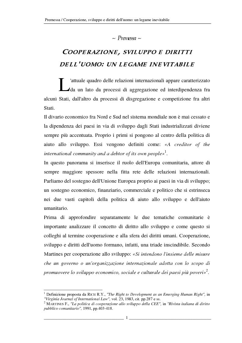 Anteprima della tesi: L'Unione europea e gli aiuti umanitari. La crisi dei Grandi Laghi, Pagina 1