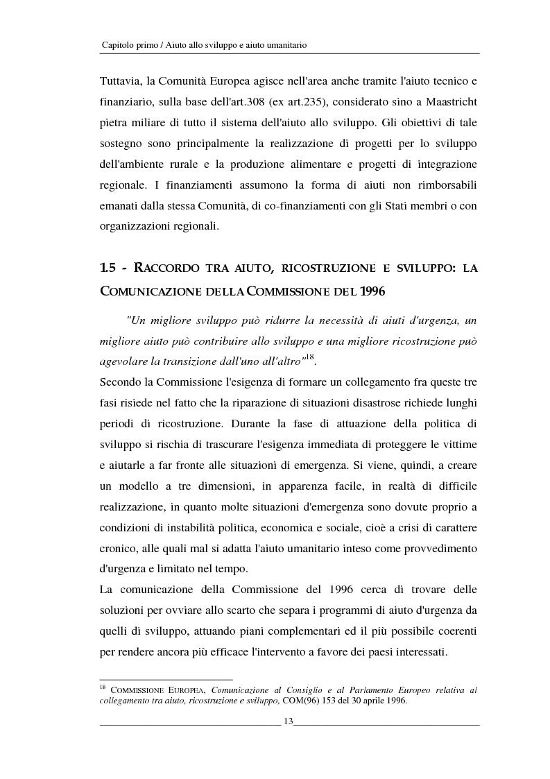 Anteprima della tesi: L'Unione europea e gli aiuti umanitari. La crisi dei Grandi Laghi, Pagina 13