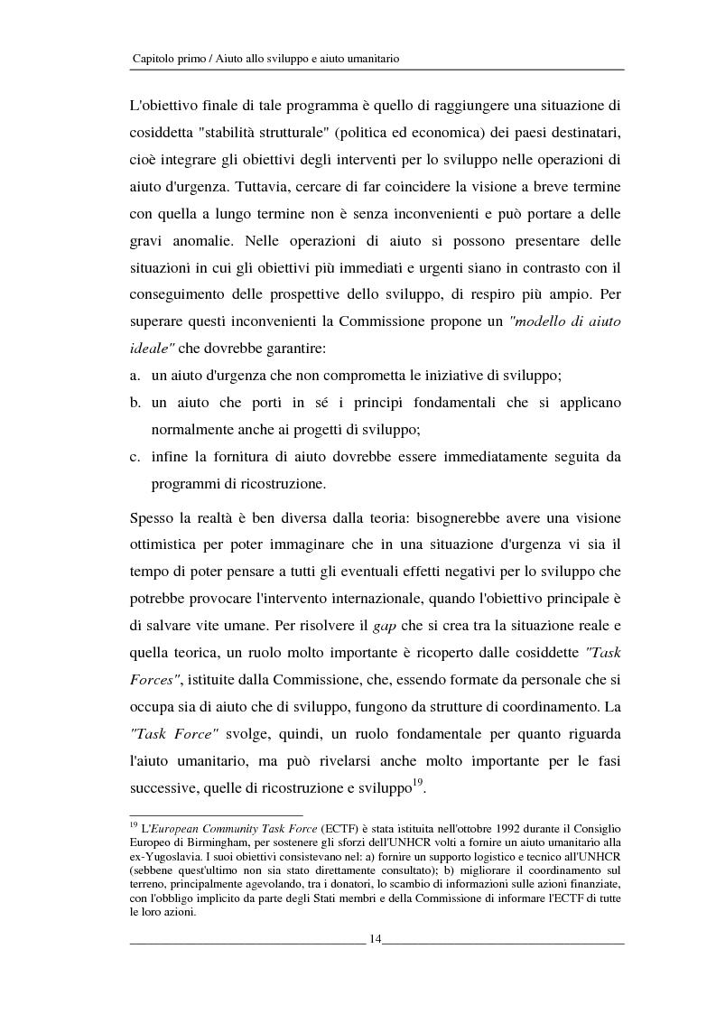 Anteprima della tesi: L'Unione europea e gli aiuti umanitari. La crisi dei Grandi Laghi, Pagina 14
