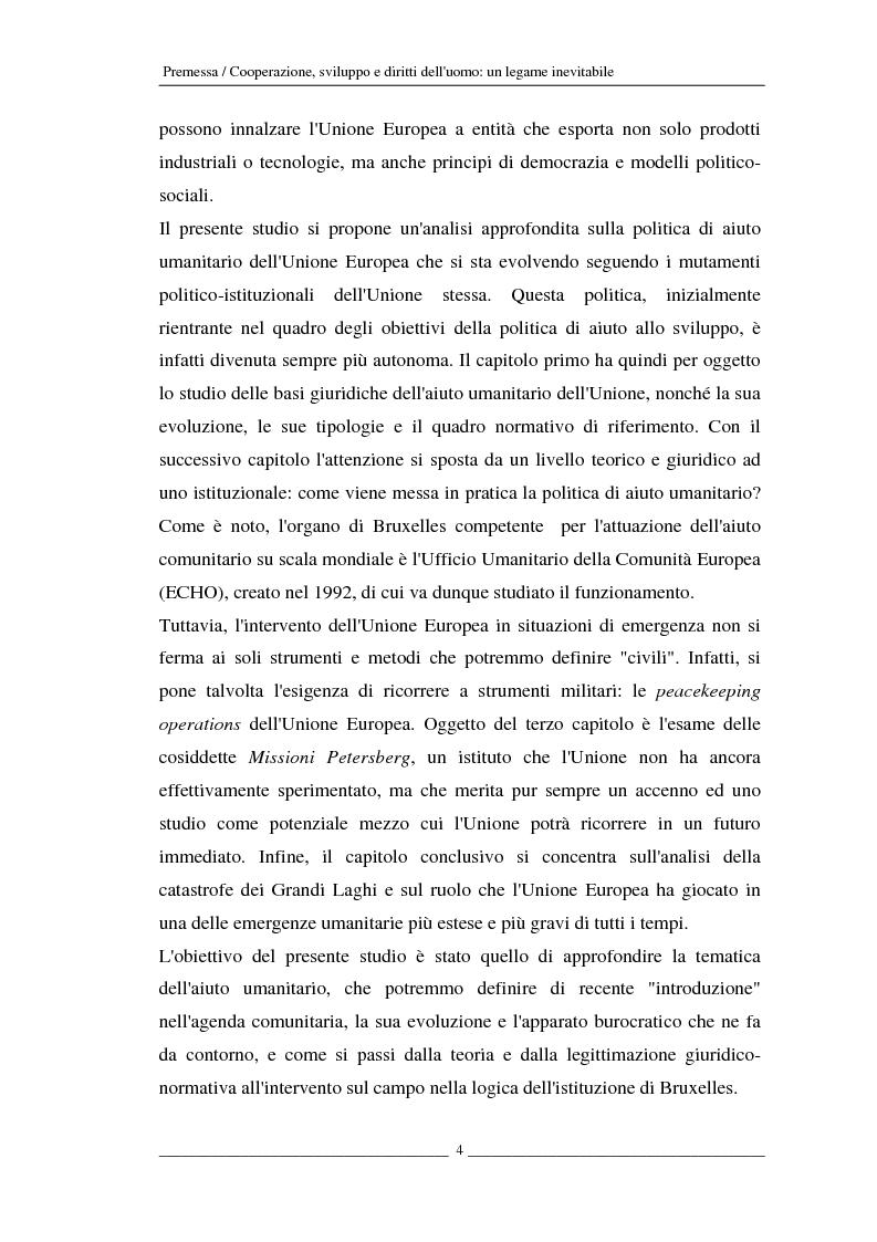 Anteprima della tesi: L'Unione europea e gli aiuti umanitari. La crisi dei Grandi Laghi, Pagina 4